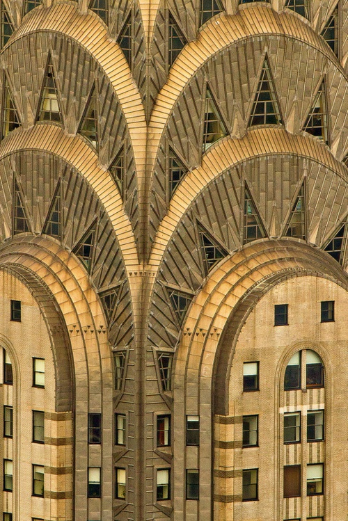 art deco chrysler building new york city gold