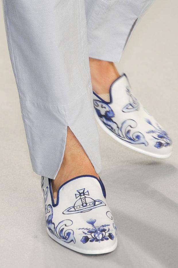 Vivienne Westwood Men's Spring 2013 Delftware slippers 8