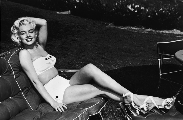 Marilyn Monroe In Swimsuit On Lounge Chair